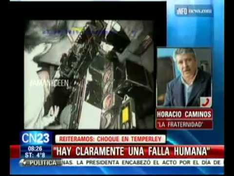 s/ACCIDENTE TEMPERLEY - REPORTAJE A  HORACIO CAMINOS  CN23